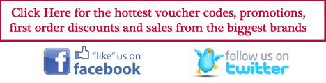 Click Here to access the latest discount codes or follow  us on Twitter and Facebook